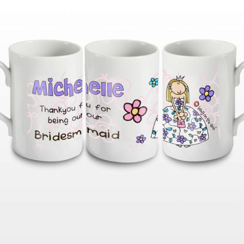 Personalised Bang on the Door Wedding Girl Mug